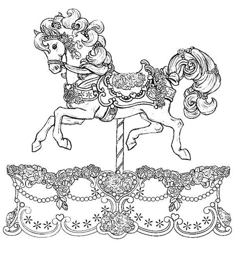beautiful coloring pages beautiful carousel coloring pages colouring pages