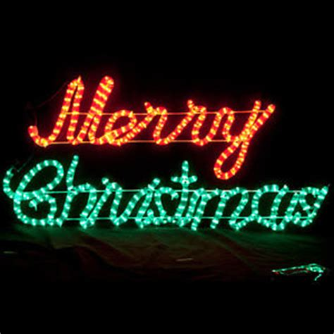 led animated merry christmas motif rope light red and