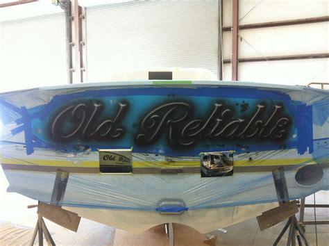 boat transom paint old reliable winter custom yachts apex north carolina