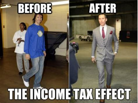 Tax Money Meme - the income tax effect before after