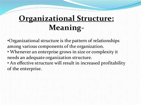 staffing pattern of the organization organizing and organizational structure