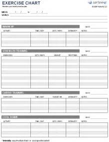 Exercise Template by Free Exercise Chart Printable Exercise Chart Template