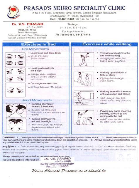 vestibular therapy exercises cawthorne cooksey exercises pdf