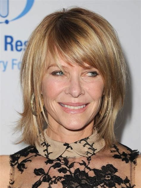 kate capshaw with long bob with bangs hairstyles haircuts long hair styles shoulder