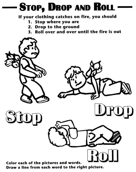 fire safety printables fire safety coloring sheet