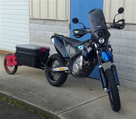 moto mule   red wagon   motorcycle