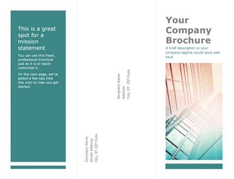 microsoft word brochure template brochures office