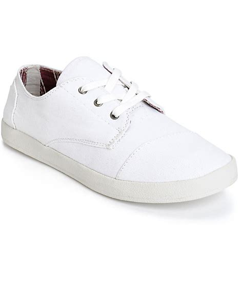 toms paseo white canvas womens shoes