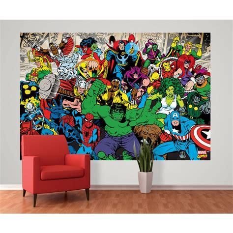 Disney Wall Murals Wallpaper 1 wall marvel avengers hulk ironman wallpaper mural 1 58m
