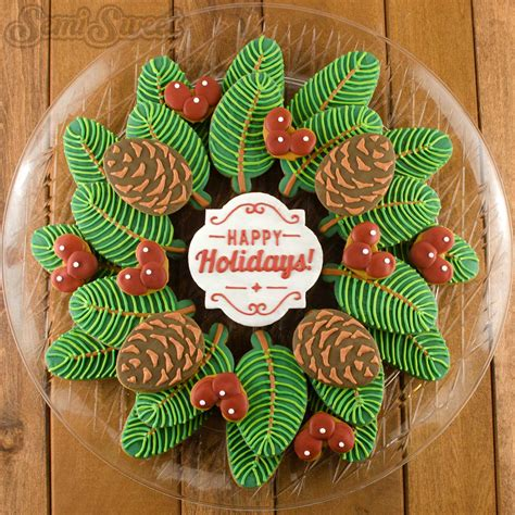 christmas cookie platter ideas how to make a pine wreath cookie platter semi sweet designs