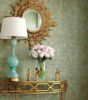turquoise l eclectic entrance foyer thibaut design