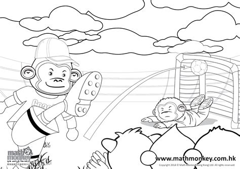 monkey coloring pages of math problems coloring pages