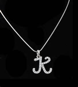 necklaces letter k inspired personalized