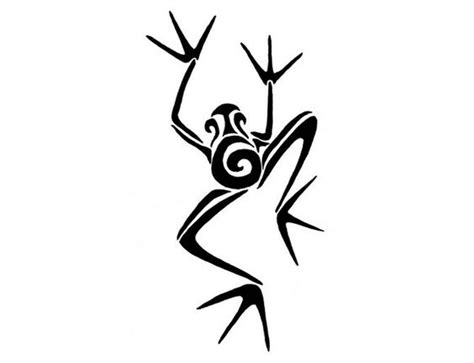 frog tribal tattoos frog tribal patterns clipart best