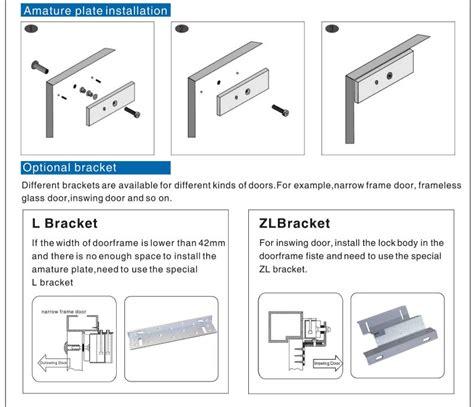 Magnetic Door Lock 180kg Kw 1 Bracket Zl Bracket U For Access zl type magnetic lock bracket for inward door buy zl magnetic lock bracket bracket for inward