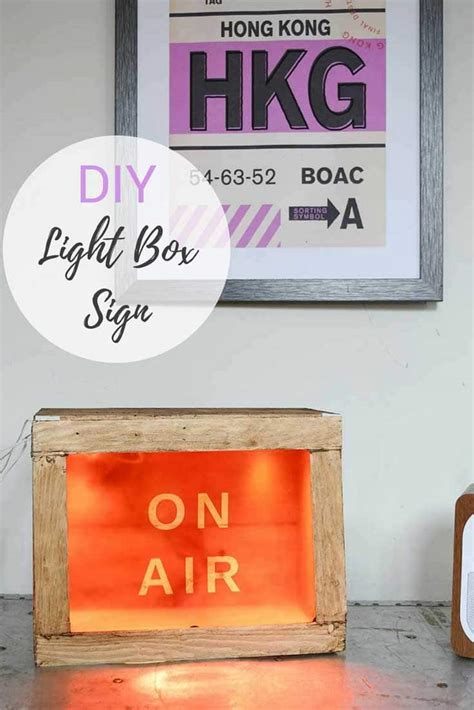 diy light box sign simple and to diy light box sign pillar box blue
