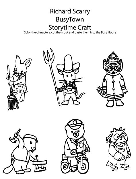 Happy Birthday To Richard Scarry Scrink Com Bring Me Up Richard Scarry Coloring Pages