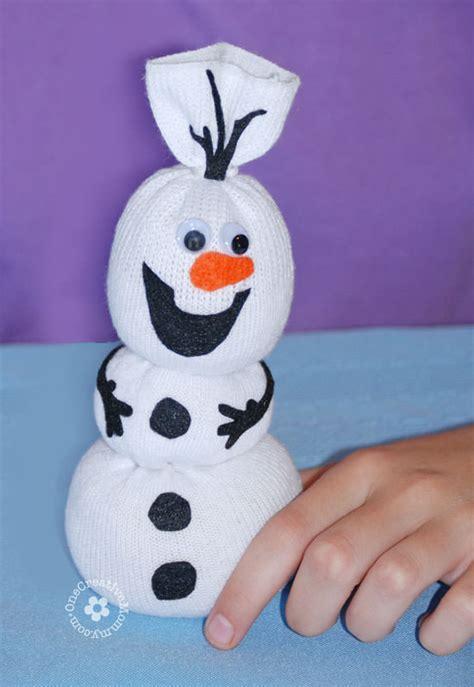 frozen sock snowman olaf sock snowman tutorial onecreativemommy