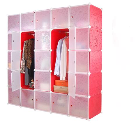 Buy Portable Closet by New Portable Corner Wardrobe Closet With Clothes Hangers