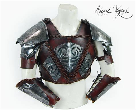 nordic knight armor nordic steel and leather armor barbarian armor leather
