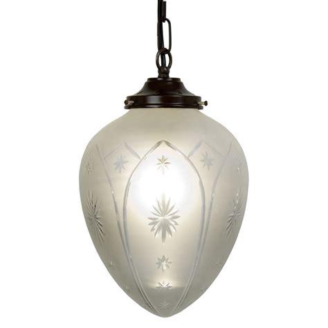 Victorian Style Entrance Hall Light With Star Pattern Edwardian Pendant Light