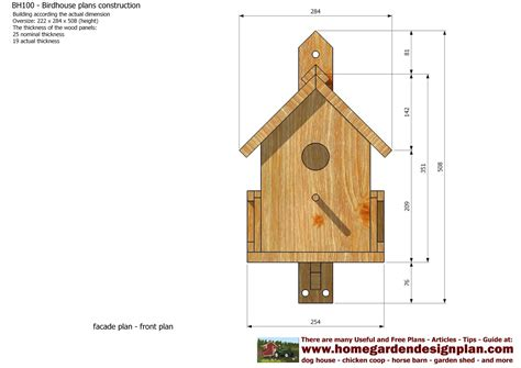 Bird Houses Plans by Home Garden Plans Bh100 Bird House Plans Construction