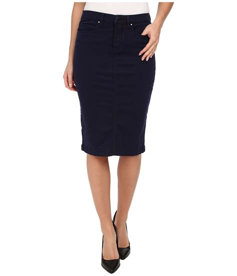 blank nyc navy blue pencil skirt midnight blue s