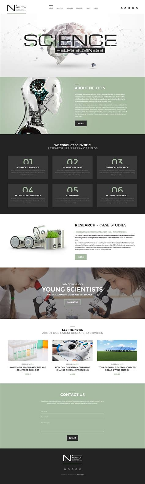 Science Lab Templates Archives Zemez Wordpress Template Wp Responsive