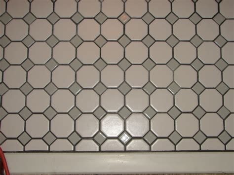 octagon dot tile with gray groutmapei silver color sanded