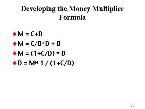 Formula Of Credit Multiplier Money Multiplies Images