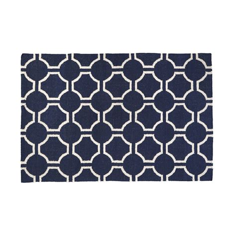 rug geometric blue and white geometric rug roselawnlutheran