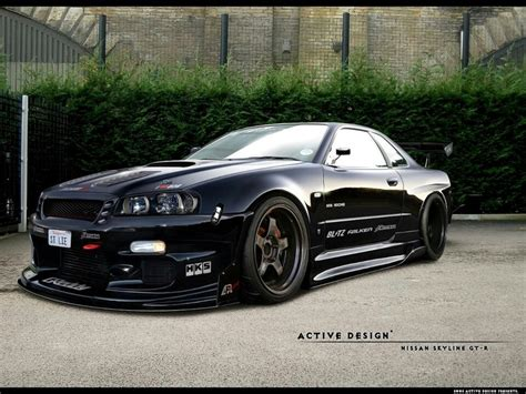 nissan skyline r34 modified nissan r34 skyline gt r japanese tuner imports