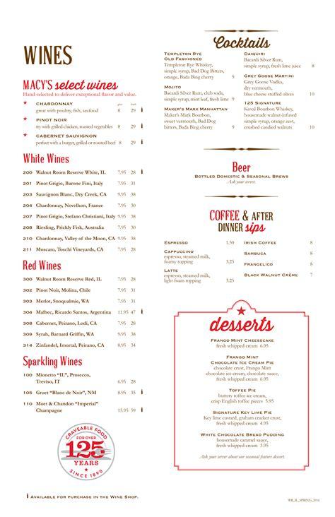 Walnut Grill Gift Card Balance - walnut room menu macysrestaurants com
