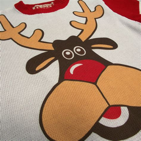 His And Hers Matching Jumpers Two Matching His And Hers Rudolph Jumpers By