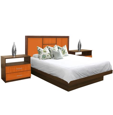 Broadway King Size Platform Bedroom Set 4 Piece Contempo King Platform Bed Set