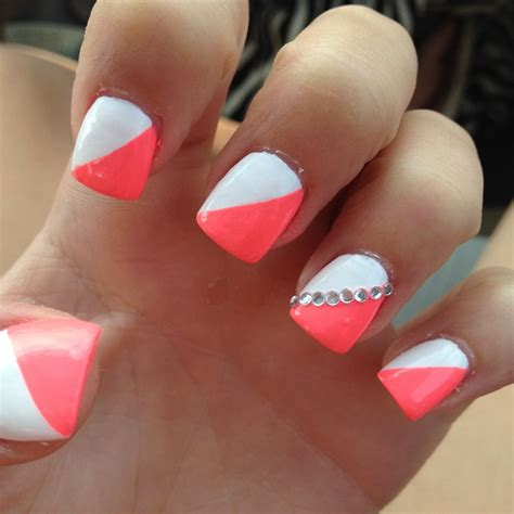 cute nail styles the dainty cute easy nail designs orange white nails sparkly live before you get to old