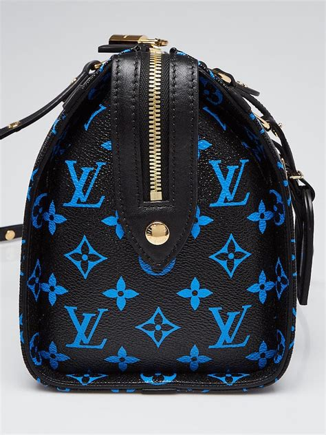 louis vuitton blue noir monogram canvas speedy amazon pm