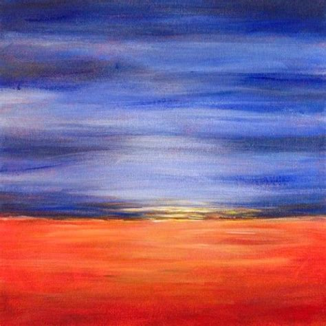 easy acrylic painting ideas abstract landscape easy