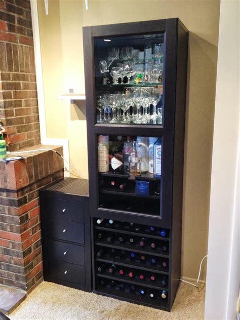 besta wine rack  liquor cabinet ikea hackers bloglovin