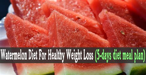 The Watermelon Diet For Weight Loss And Detoxing by Diet Menu Smash Diet Menu