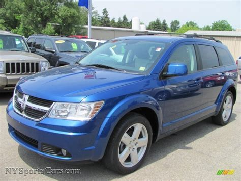 blue dodge journey 2009 dodge journey sxt awd in water blue pearl