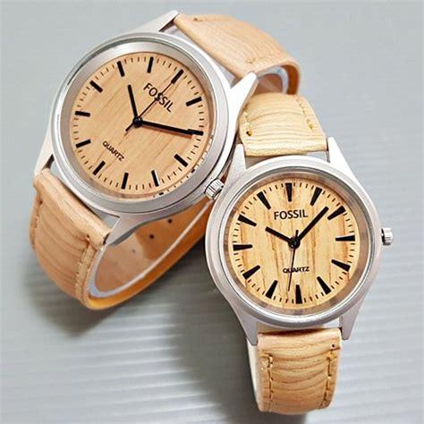 Jam Tangan Kulit Fossil Woody Light jual beli jam tangan fossil wood balok lightbrown