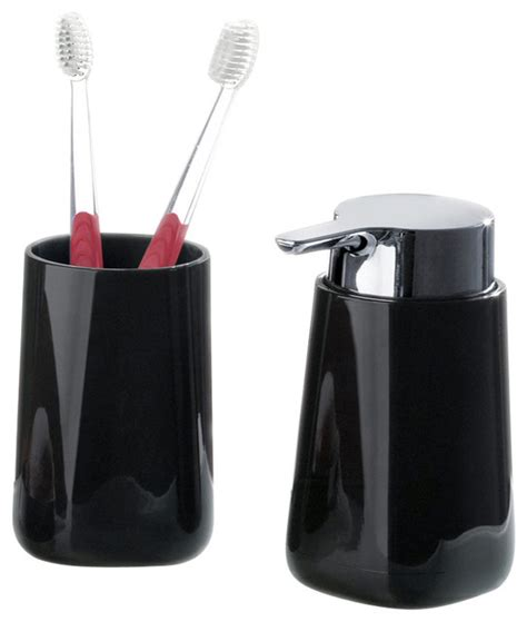 Bath Accessories Bathroom Tumbler And Liquid Soap Contemporary Bathroom Accessory Sets