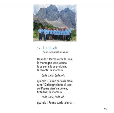 testo layla cantamonti nuovo cd coro cai di vittorio veneto