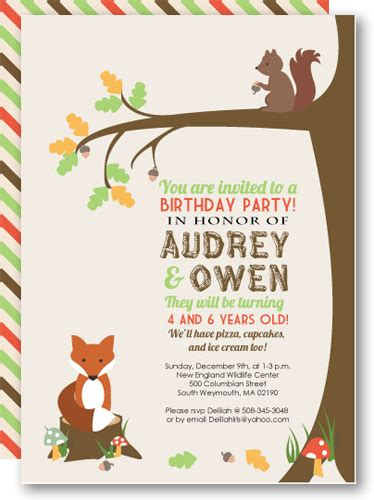 Woodland Invitations Printable Template And Kit Woodland Invitation Template