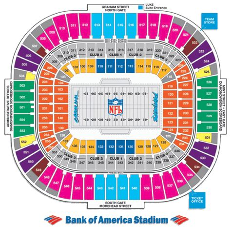 bank of america stadium seating bo stadium junglekey wiki