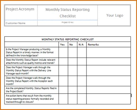 7  monthly report template   Authorizationletters.org