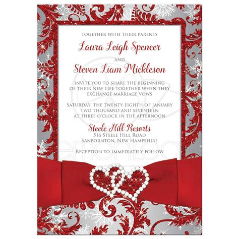 Wedding Invitations And White by Wedding Invitation Photo Optional Winter