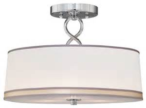 modern semi flush ceiling lights forte lighting 3 light semi flush mount in chrome