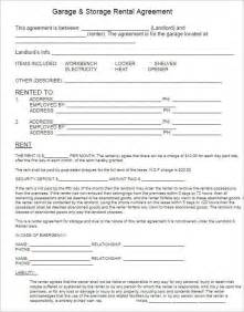 Storage Lease Agreement Template by Rental Lease Agreement 282 Free Word Pdf Excel